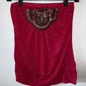 Pink Maurices Tube Top - Size S (NWT)